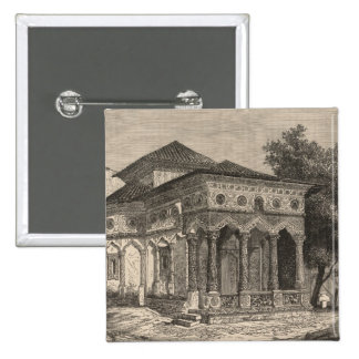 View of a Church in Bucharest Pinback Buttons