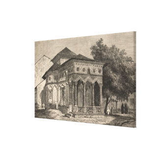 View of a Church in Bucharest Canvas Print