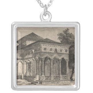 View of a Church in Bucharest Silver Plated Necklace