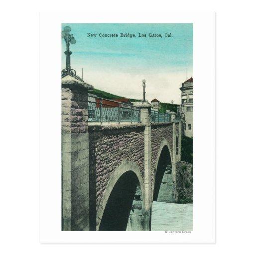 View of a Concrete BridgeLos Gatos, CA Post Cards