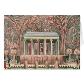 View of a firework display card