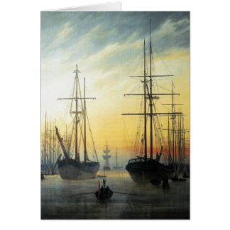 View of a Harbour - Caspar David Friedrich Card