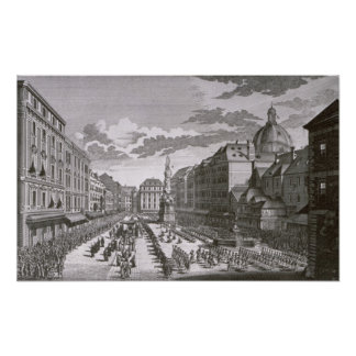 View of a procession in the Graben Poster