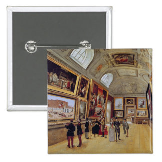 View of a Room in the Musee du Luxembourg in Pinback Button