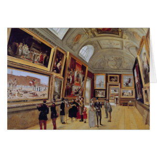 View of a Room in the Musee du Luxembourg in Card