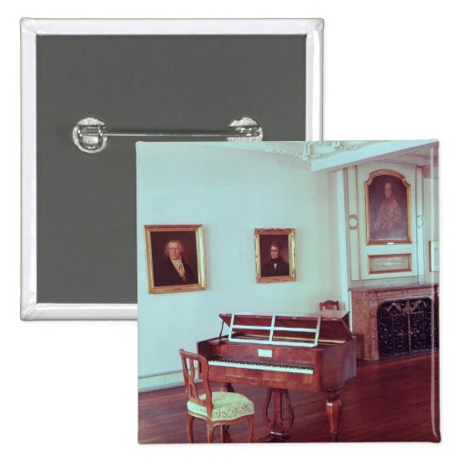 View of a room with a grand piano button