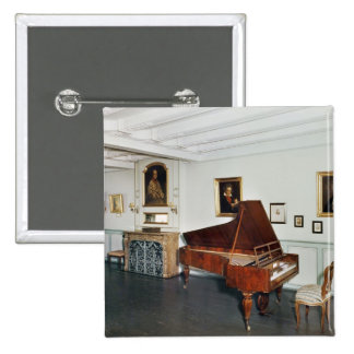 View of a room with a grand piano buttons