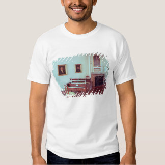 View of a room with a grand piano shirt