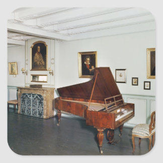 View of a room with a grand piano sticker
