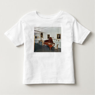 View of a room with a grand piano t shirts