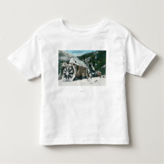 View of a Rotary Snow Plow in the Mountains Tee Shirts