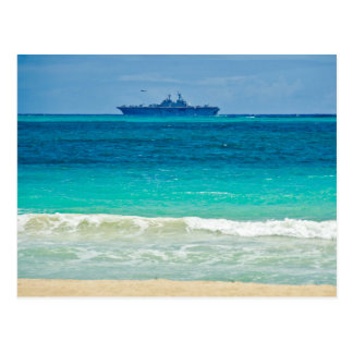 View of a Ship from the Beach Postcard