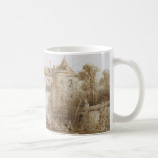 View of a Town with Bell Tower Mug Basic White Mug