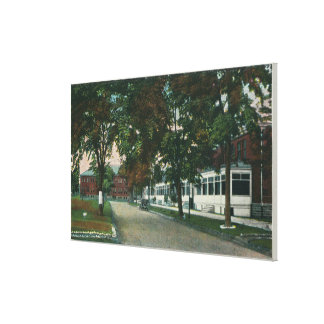 View of a US Military Camp Stretched Canvas Prints