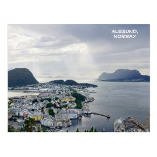 View of Alesund, Norwegian sea, Norway Postcard