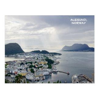 View of Alesund, Norwegian sea, Norway Postcard