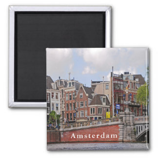 "View of Amsterdam in the area of the ""blue bridge"" Magnet"