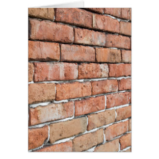 View of an old brick wall with a blur at an angle card