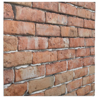 View of an old brick wall with a blur at an angle napkin