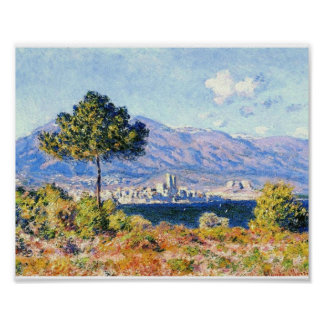 View of Antibes from the Plateau Notre-Dame Poster