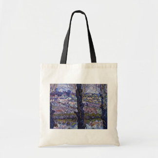 View Of Arles By Vincent Van Gogh Canvas Bags