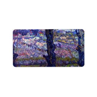 View of Arles by Vincent van Gogh Label