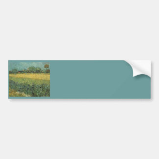 View of Arles with Irises by Vincent Van Gogh Bumper Sticker