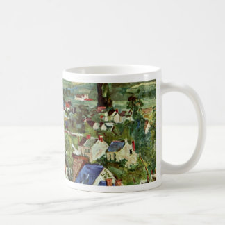 View Of Auvers By Paul Cézanne (Best Quality) Coffee Mug