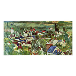 View Of Auvers By Paul Cézanne (Best Quality) Photo Card Template