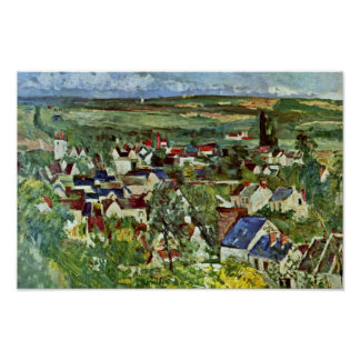 View Of Auvers By Paul Cézanne (Best Quality) Poster