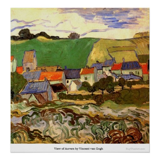 View of Auvers by Vincent van Gogh Print
