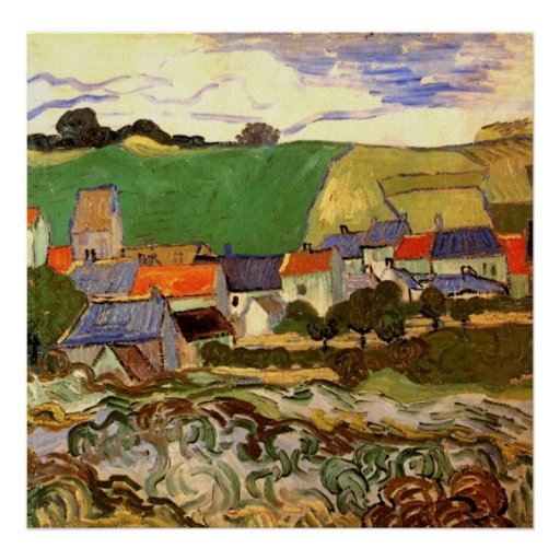 View of Auvers by Vincent van Gogh Posters