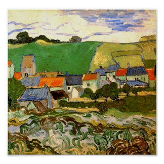 View of Auvers (F799) Van Gogh Fine Art Poster