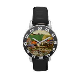 View of Auvers, Van Gogh Wrist Watches