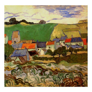 View of Auvers Vincent van Gogh Posters