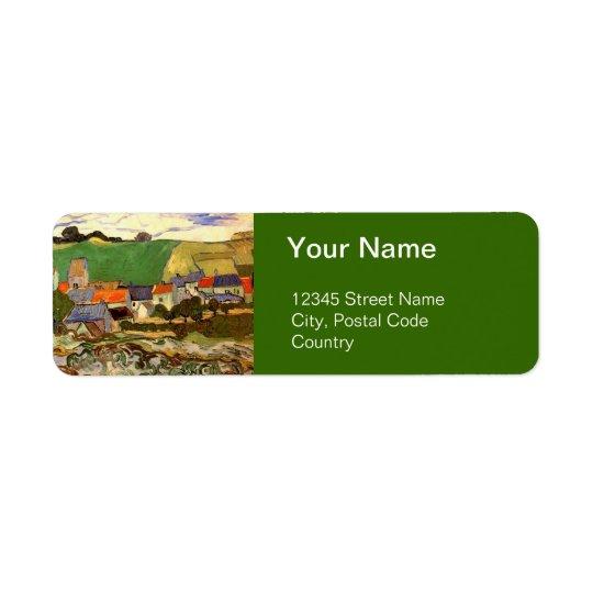 View of Auvers Vincent van Gogh. Return Address Label