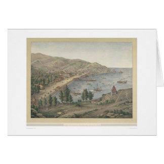 View of Avalon Harbor, Santa Catalina Island(1211) Greeting Card