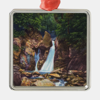 View of Bash-Bish Falls near Great Barrington Metal Ornament