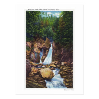 View of Bash-Bish Falls near Great Barrington Postcard