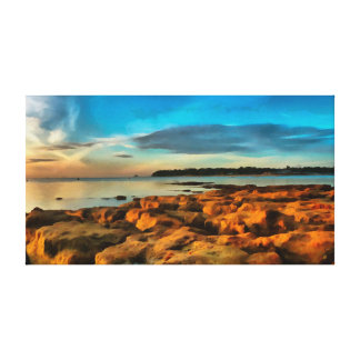 View of Bembridge from Saint Helen's Bay Canvas Print