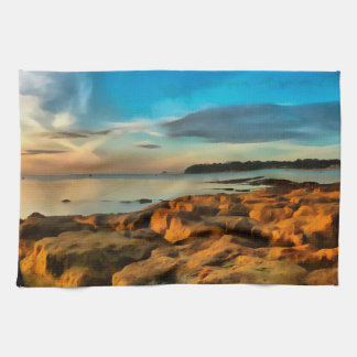 View of Bembridge from Saint Helen's Bay Tea Towel