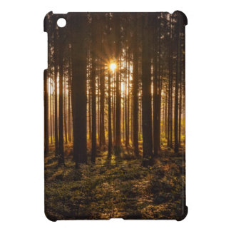 View of Black Trees and Sun iPad Mini Cover
