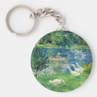 View of Bois de Boulogne by Berthe Morisot Key Chains