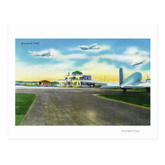 View of Brainard Field, Planes Landing & Postcard
