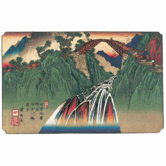 View of Bridge Over Ina River, Nojiri by Hiroshige Photo Sculpture Key Ring