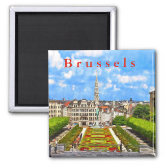 View of Brussels from the Mountains of Arts. Magnet