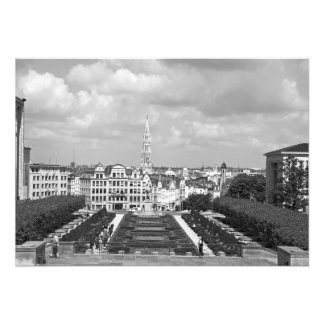 View of Brussels from the Mountains of Arts Photo Print