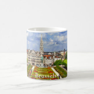 View of Brussels from the Mountains of the Arts Coffee Mug
