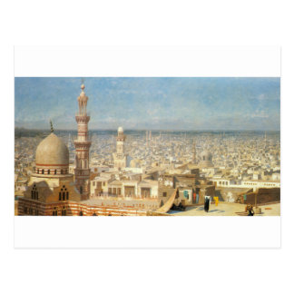 View of Cairo by Jean-Leon Gerome Postcard