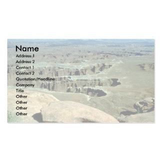 View of Canyonlands National Park, Utah Business Card Template